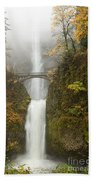 Multnomah Autumn Mist Beach Towel by Mike  Dawson
