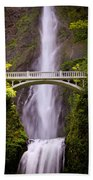 Multnomah Falls Silk Beach Towel