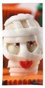 Mummy Sweet On Halloween Cup Cake Beach Towel