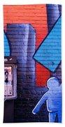 Mural, Nyc, New York City, New York Beach Towel