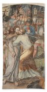 Mural Painting Abbey Fontevraud Beach Towel