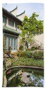 Museum Courtyard - Beautiful Courtyard Of The Pacific Asia Museum In Pasadena. Beach Towel