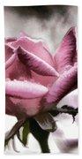 Museum Park Pink Rose Beach Towel