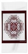 Music And Lace Beach Towel