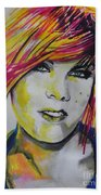 Music Artist..pink Beach Towel