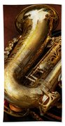 Music - Brass - Saxophone  Beach Towel