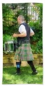 Music - Drummer In Pipe Band Beach Towel