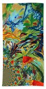 Music In Bird Of Tree Assymetrical Beach Towel