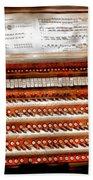 Music - Organist - The Pipe Organ Beach Towel by Mike Savad