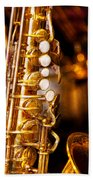Music - Sax - Sweet Jazz  Beach Towel by Mike Savad