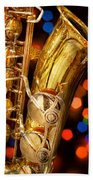 Music - Sax - Very Saxxy Beach Towel