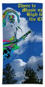 Music Up In The Clouds Again Beach Towel