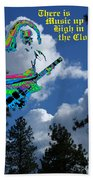 Music Up In The Clouds Beach Towel