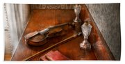 Music - Violin - A Sound Investment  Beach Towel