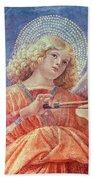 Musical Angel With Violin Beach Towel