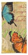 Musical Butterflies 1 Beach Sheet