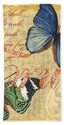 Musical Butterflies 3 Beach Towel