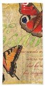 Musical Butterflies 4 Beach Towel