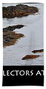 Mussel Collectors At Low Tide - Shellfish - Low Tide Beach Towel