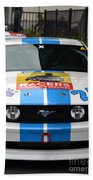Mustang Race Car Beach Towel
