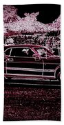Mustang Rose Beach Towel