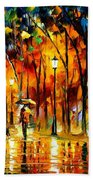 My Best Friend - Palette Knife Oil Painting On Canvas By Leonid Afremov Beach Towel