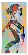 My Colorful Ballerina  Beach Towel