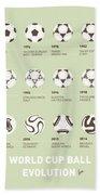 My Evolution Soccer Ball Minimal Poster Beach Towel