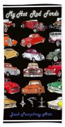 Hot Rod Ford Poster Beach Towel