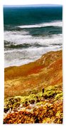 My Impression Of California Coastline Beach Towel