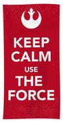 My Keep Calm Star Wars - Rebel Alliance-poster Beach Towel