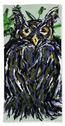 My Little Owl Beach Towel