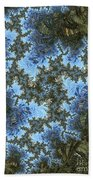 My Maui Fractal Art Abstract Palms And Blue Sky And Waters Beach Towel