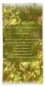 My New Year's Resolution Is . . . Poem And Image Beach Sheet