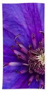 My Old Clematis Home Beach Towel