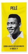 My Pele Soccer Legend Poster Beach Towel