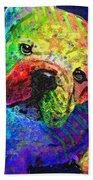 My Psychedelic Bulldog Beach Towel