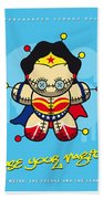 My Supercharged Voodoo Dolls Wonder Woman Beach Sheet