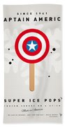 My Superhero Ice Pop - Captain America Beach Towel