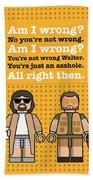 My The Big Lebowski Lego Dialogue Poster Beach Towel
