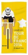 My Tour De France Minimal Poster 2014 Beach Sheet