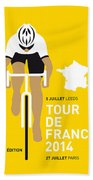My Tour De France Minimal Poster 2014 Beach Towel