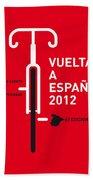 My Vuelta A Espana Minimal Poster Beach Towel by Chungkong Art