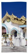 Myanmar Buddhist Temple Beach Towel