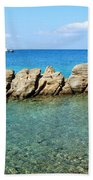 Mykonos Blue Aegean Beach Towel