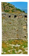Myra's Roman Theatre In Fourth Century-turkey Beach Towel