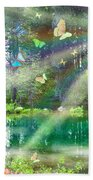 Mystic Foggy Forest Beach Towel by Alixandra Mullins