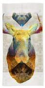 Mystic Moose Art By Sharon Cummings Beach Towel