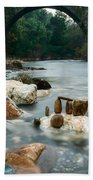 Mystic River I Beach Towel