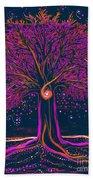 Mystic Spiral Tree 1 Pink By Jrr Beach Towel
